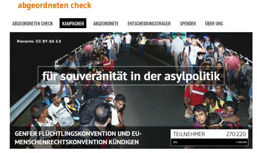 Petition Souveräntät Asylpolitik