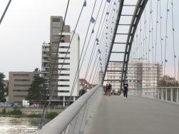 Brücke über den Rhein zwischen Frankreich und Deutschland (Weil am Rhein)