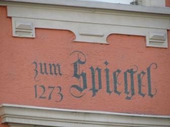 Fassadendetails Konstanz am Bodensee : Zum Spiegel 1273