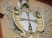 Schwarzes Kreuz auf Weißem Grund - Wappen in der Tradition des Deutschen Ordens