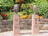 Gründer und Gründerin des Schlossparks Blumeninsel Mainau